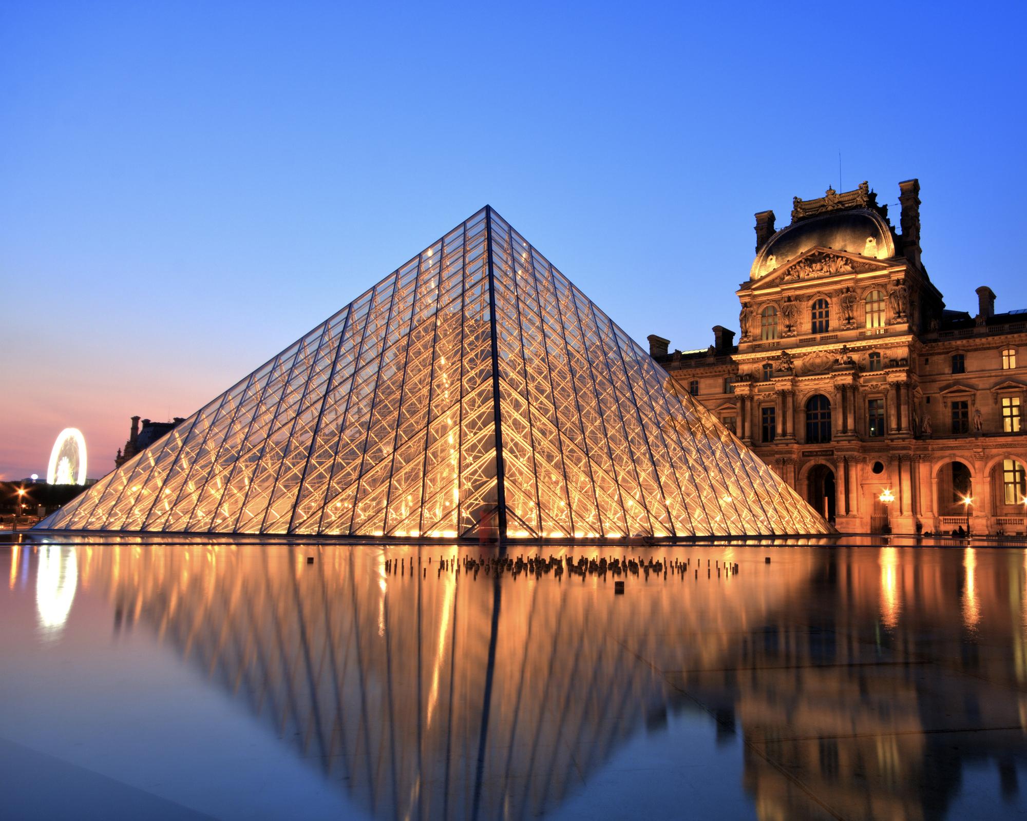 Louvre Pyramid in Paris