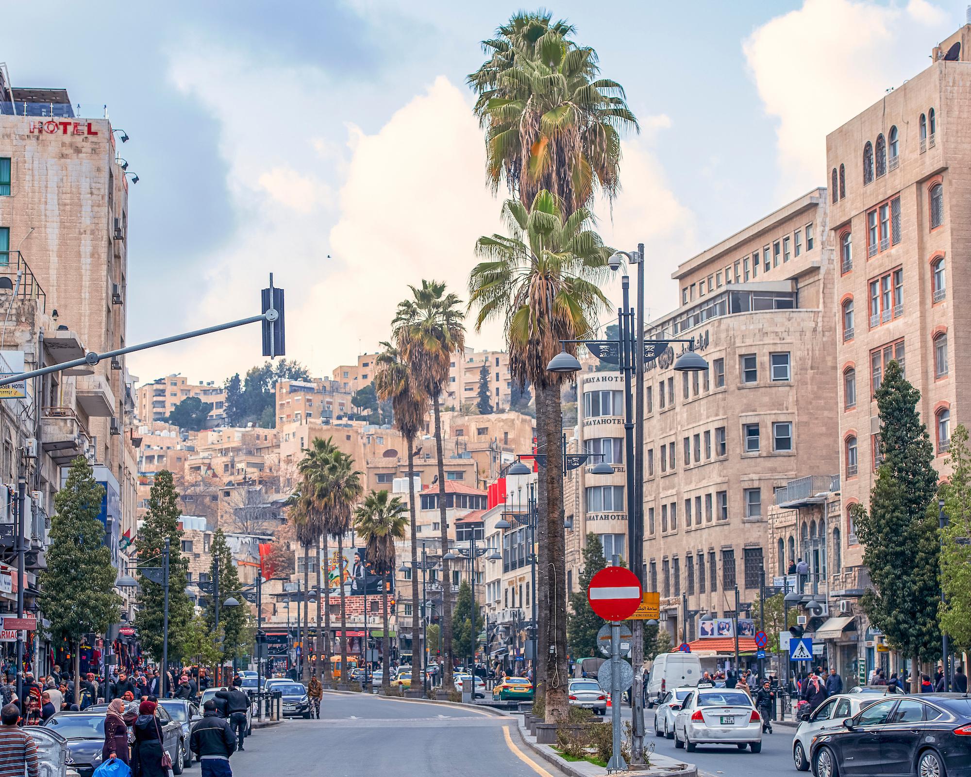 a street in Amman, Jordan